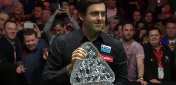 Mesterek Tornája döntő győztes: Ronnie O'Sullivan